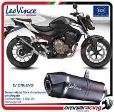 Leovince terminale scarico LV ONE EVO carbonio omologato HONDA CB500 F 2016>2017