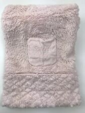 Kyle & Deena Baby Blanket Security Sweet Baby Plush Pink Cream Sherpa Back