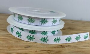 Green christmas Tree Ribbon 12mm Xmas Presents Gifts SOLD PER METER Top Quality