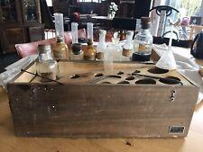 ANCIENNE Coffret, Boite De chemie BREWER FRERES PARIS 1906 Chemistry Utensils