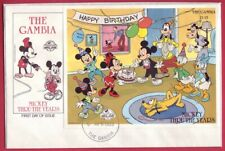 The Gambia 1989 Disney Mini Sheet FDC Mickey Mouse's 60th Birthday Party MS858