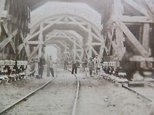 34-Rare grande photo XIXe: Chemin de fer: Tunnel de la rue Sorbier, 1878 Paris
