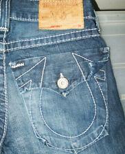 *HOT Men's TRUE RELIGION @ JOEY BIG T FLARE BOOTCUT DARK Jeans 28x29 (Fit 29x29)