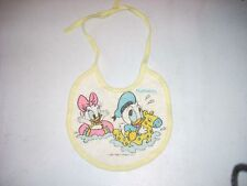 Playskool Bib Donald & Daisy Duck as babies 1982 Disney Used
