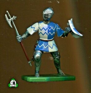 Britains: Blue/White Foot Knight w/Pole Axe