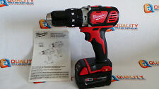 "New Milwaukee 2607-20 M18 18V Li-Ion 1/2"" Cordless Hammer Drill & Battery"
