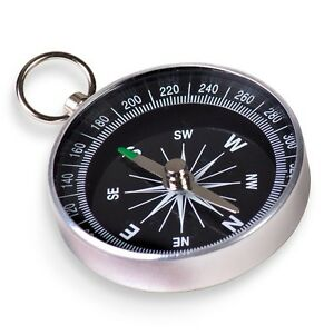 POCKET COMPASS - 00017 SMALL METAL OUTDOOR TRAVEL DIRECTION CAMPING WALK GEAR