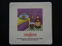 DRAMBUIE ON ICE THE TASTE OF MALT WHISKY WITH THE SURPRISE OF HONEY FISH COASTER