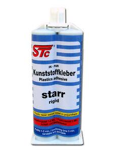 STC 2K PUR Kunststoffkleber starr 50 ml Industriekleber Doppelkartusche