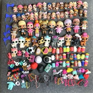 Lot 200Pcs Doll Queen Bee Kitty Queen Unicorn Lil Pet & Outfit Toys