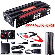 68800mAh Portable Power Bank Auto Car Jump Starter Vehicle Mini Booster Charger