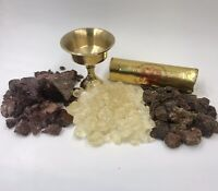 Resin Incense Sampler - Brass Burner, Charcoal, Myrrh, Copal & Dragon's Blood