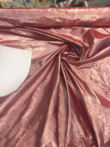 Metallic Red Lame Dupioni Drapery Fabric By the yard