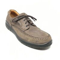 Men's Ecco Casual Lace Up Oxfords Shoes Size 45 EU/11-11.5 US Brown Leather Y1