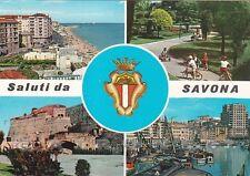 SAVONA CITTÀ 63 SALUTI da... VEDUTINE Cartolina viaggiata 1970