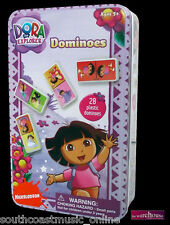 DOMINOES 28 DORA THE EXPLORER COLLECTABLE TIN CHILD GIRLS KIDS TOY NICKELODEON