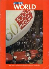 Fiat World Magazine No 12 June 1987 UK Market Brochure Uno Selecta Ferrari