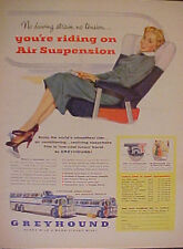 1955 GREYHOUND BUSES BUS SCENICRUISER Paper Print AD