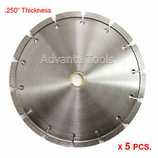"5PK 7"" x .250"" Tuck Point Diamond Blade for Mortar Concrete Masonry"