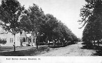 Stockton IL Home w/Tiny Turret on It's Porch~Dirt East Benton Avenue c1910