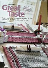 KNITTING PATTERN Table Dining Set Placemat Table Runner Napkin Ring Rowan MAKE