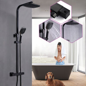 3In1 Thermostat Shower Set Waterfall Rainfall Controller Shower Scald protection
