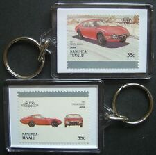 1967 TOYOTA 2000GT Car Stamp Keyring (Auto 100 Automobile)