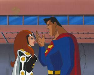 Superman Animated Series-Original Production Cel-Maxima+Superman-Warrior Queen