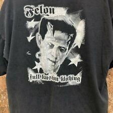 Felon Clothing Shirt Black 2XL Frankenstein
