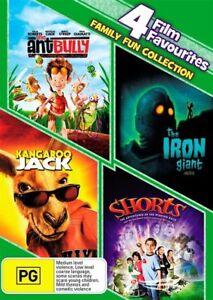 The Ant Bully / Iron Giant / Kangaroo Jack / Shorts 4 DVD Set Free Tracked Post