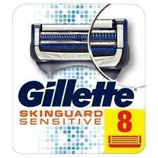 GILLETTE SKINGUARD SENSITIVE RAZOR BLADES X 8 (100% GENUINE UK)