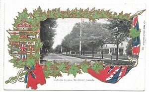 Brant County BRANTFORD, ONTARIO Dufferin Avenue - Patriotic & Heraldic Postcard