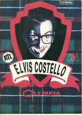 RARE / TICKET BILLET DE CONCERT - ELVIS COSTELLO : LIVE A PARIS ( FRANCE ) 1989