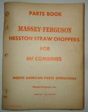Massey Ferguson Hesston Straw Choppers For Combines Parts Catalog Manual Book Mf