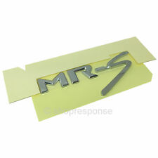 JDM Toyota 00-05 MR2 Spyder Roadster MRS ZZW30 Rear MR-S Emblem Badge Chrome