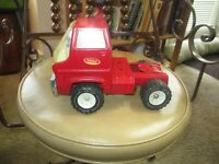 Vintage 70's Tonka Red Semi Tractor Truck Cab Steel LARGE 9 1/2 inches