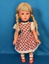 """Rare Vintage 15"""" Celluloid Hard Plastic Kathe Kruse Doll Turtle Mark Human Hair"""
