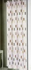 Tenda pannello singolo con anelli in metallo borchie 140x290  Annette beige