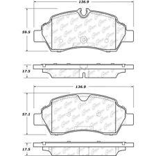 Disc Brake Pad Set Rear Centric 106.17750