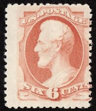 "US Sc# 186 *UNUSED RG H* { 6c LINCOLN } SOFT POROUS PAPER ""SCARCE OF 1879 SERIES"