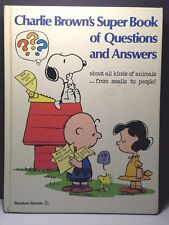 Charlie Brown's Super Book Of Questions and Answers Vintage 1976 GC
