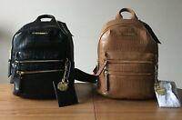 Steve Madden BMIDI Prep Backpack w Printed Logo PVC Saddle/Black (See Note) NWT