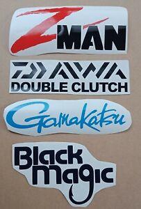 FISHING STICKER PACK X 4 200MM LONG Z MAN DAIWA