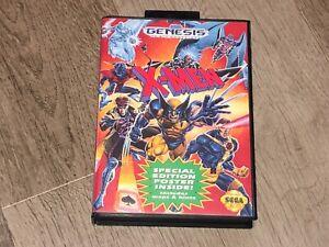 X-Men Sega Genesis w/Case Box Authentic