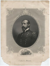 Portrait Union Major General George Meade, Lithograph From Brady Ambrotype.