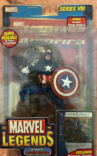 Ultimate Captain America action figure.Marvel legends series 8. 2004. New In Box