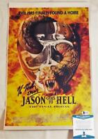 KANE HODDER SIGNED 11x17 CHROME PHOTO PRINT JASON FRIDAY 13TH BAS COA 872