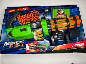 V-Twin Motorized Gatling Belt Dart Blaster,Fires over 3 darts per second,Ages 8+