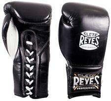 Cleto Reyes Professional Lace Up Training Boxing Gloves - Black - 18 oz