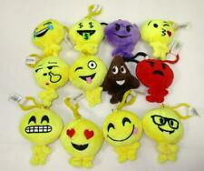 Lot of 12 Emoji Stuffed Plush Toy Key Chain Emoticon Keychain Ring Clip Poop B-2